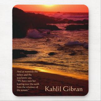 美しい- Kahlil Gibran著予言者 マウスパッド