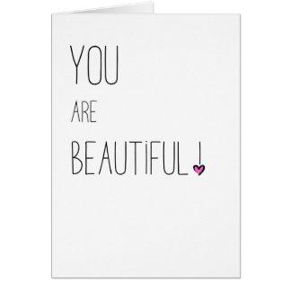 美しい- LGBT -ピンクのハートです カード