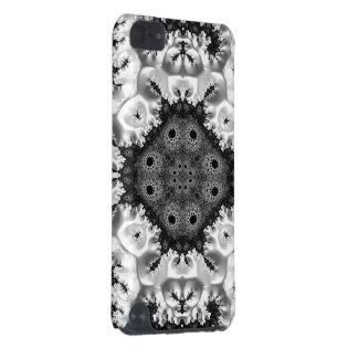 美しいBlack&Whiteのフラクタルの抽象芸術 iPod Touch 5G ケース