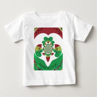 美しいHakuna Matata I愛エチオピアのハート色 ベビーTシャツ