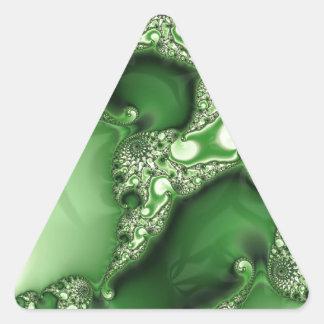 美しいSpearmintのフラクタルのレース 三角形シール