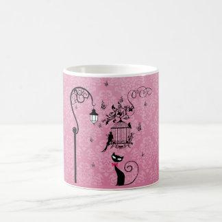 美しくエレガントでガーリーなヴィンテージ愛鳥籠 コーヒーマグカップ