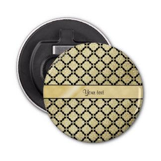 美しくエレガントな金ゴールド及び黒い対称 栓抜き