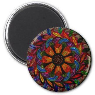 美しくカラフルな曼荼羅の磁石 マグネット