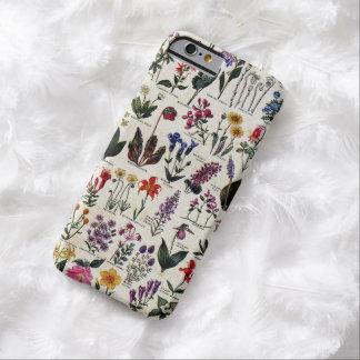 美しくガーリーな野生の花のアンティークの花柄 BARELY THERE iPhone 6 ケース