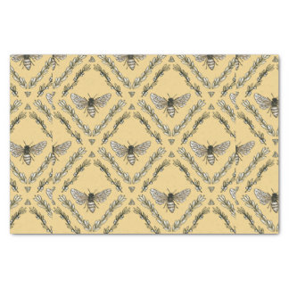 美しくシックな手描きの蜂パターン 薄葉紙