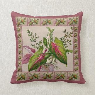 美しくビクトリアンな花の芸術の枕 クッション