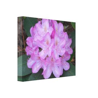 美しくピンクの花のキャンバスの芸術 キャンバスプリント
