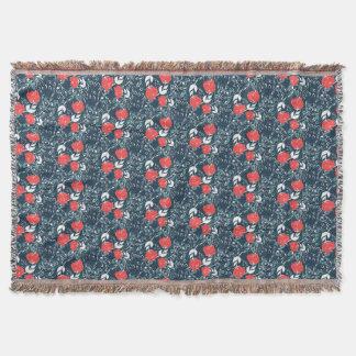 美しくモダンな花パターン スローブランケット