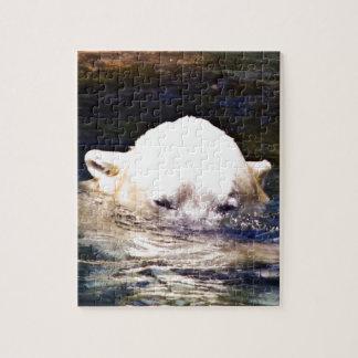 美しくユニークな白くまのカスタム ジグソーパズル