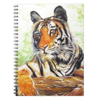美しくリラックスさせるなトラの水彩画 ノートブック