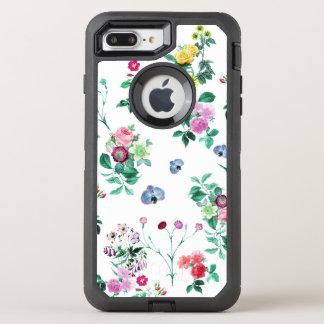 美しくロマンチックでガーリーな花のデザイン オッターボックスディフェンダーiPhone 8 PLUS/7 PLUSケース