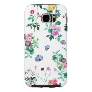 美しくロマンチックでガーリーな花のデザイン SAMSUNG GALAXY S6 ケース