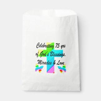 美しく名前入りな第75誕生日のデザイン フェイバーバッグ