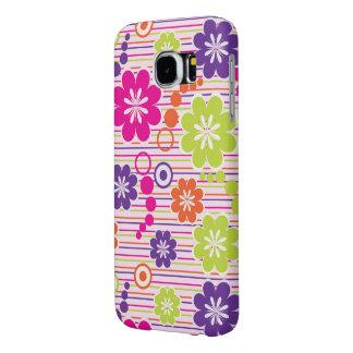 美しく多彩なベクトル花 SAMSUNG GALAXY S6 ケース