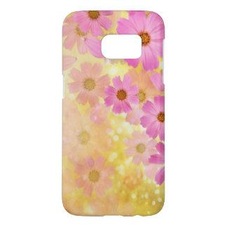 美しく多彩な花の渦巻のベクトル芸術 SAMSUNG GALAXY S7 ケース
