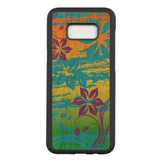 美しく多彩な花の渦巻の芸術の抽象芸術 CARVED SAMSUNG GALAXY S8+ ケース