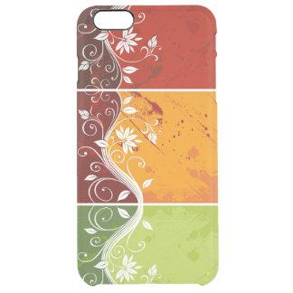 美しく多彩な花の渦巻の芸術 クリア iPhone 6 PLUSケース