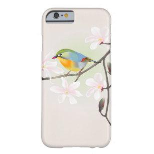美しく小さい鳥および白いマグノリアのiPhone 6 Barely There iPhone 6 ケース