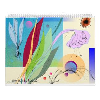 美しく抽象的な自然 カレンダー