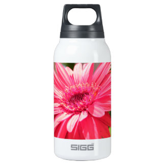 美しく明るいピンクの野生の花 断熱ウォーターボトル