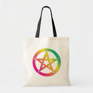 美しく明るい星形五角形 トートバッグ