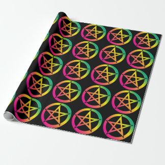 美しく明るい星形五角形 ラッピングペーパー