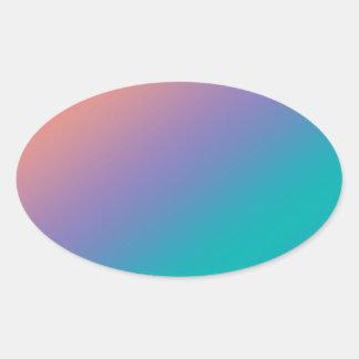 美しく明白な波の陰: txt imgを加えて下さい 楕円形シール