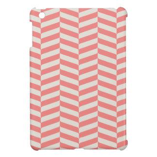 美しく暖かいピンクベージュジグザグ形の幾何学的なパターン iPad MINI CASE