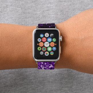 美しく暗い紫色のグリッターの輝き APPLE WATCHバンド