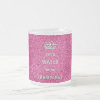 美しく涼しくガーリーな保存水飲み物のシャンペンのCr フロストグラスマグカップ