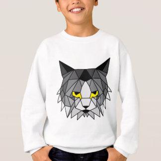 美しく深刻なgeomeric猫 スウェットシャツ