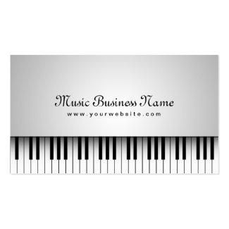 美しく白いグランドピアノの音楽業界カード ビジネスカードテンプレート