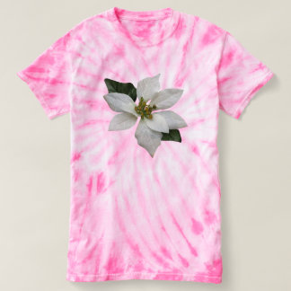 美しく白いポインセチアのクリスマスの花 Tシャツ