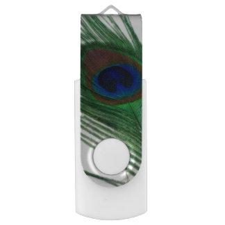 美しく白い孔雀 USBフラッシュドライブ