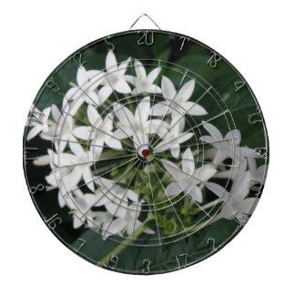 美しく白い熱帯花の投げ矢板 ダーツボード