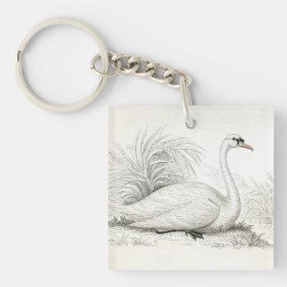美しく白い白鳥Keychain キーホルダー