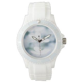 美しく白い花 腕時計