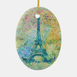 美しく粋でガーリーなヴィンテージのエッフェル塔フランス セラミックオーナメント