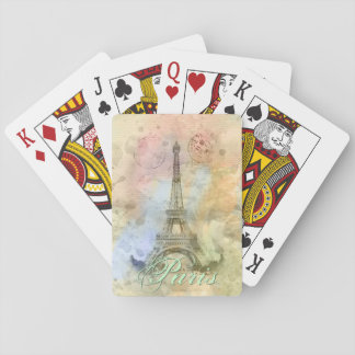 美しく粋でガーリーなヴィンテージのエッフェル塔フランス トランプ