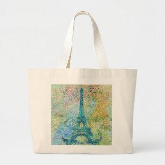 美しく粋でガーリーなヴィンテージのエッフェル塔フランス ラージトートバッグ