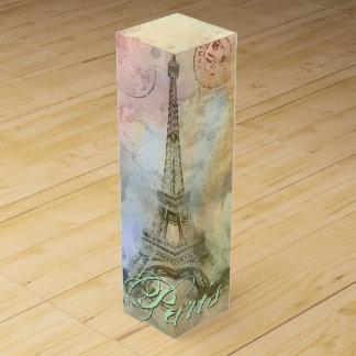 美しく粋でガーリーなヴィンテージのエッフェル塔フランス ワインギフトボックス