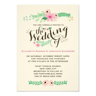 美しく素朴な庭園の結婚式の招待状 12.7 X 17.8 インビテーションカード