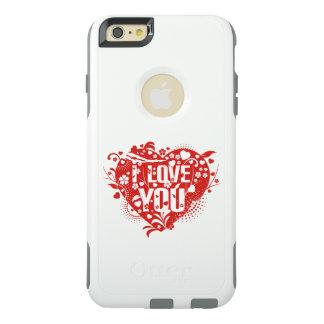 美しく美しいI愛赤いハート芸術を方向を変えます オッターボックスiPhone 6/6S PLUSケース