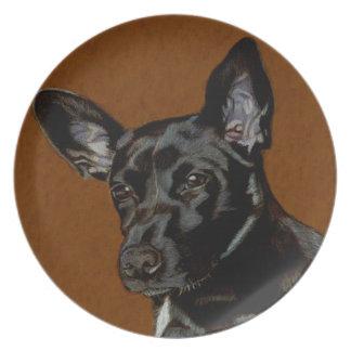 美しく装飾的な犬のプレート プレート
