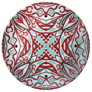 美しく複雑で多彩な装飾 磁器プレート