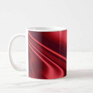 美しく赤いサテン コーヒーマグカップ