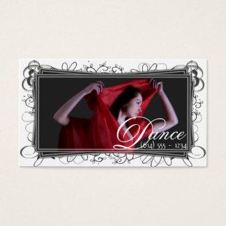 美しく赤いダンサーの名刺 名刺