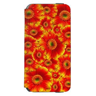 美しく赤い夏によっては箱が開花します iPhone 6/6Sウォレットケース