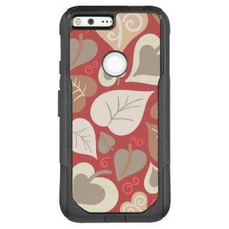 美しく赤い愛ハートの葉 オッターボックスコミューターGoogle PIXEL XL ケース